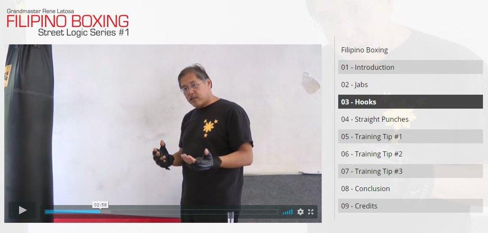 Escrima Grandmaster Rene Latosa Filipino Boxing Online Video Kurs